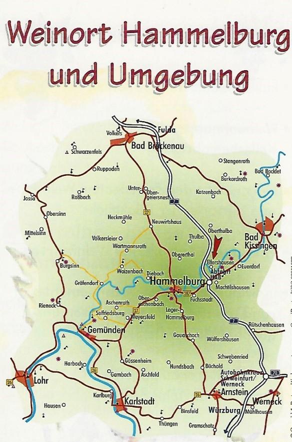 Karte Hammelburg und Umgebung_InPixio